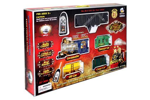 اسباب-بازی-قطار رادیو کنترلی 21 قطعه صدادار چراغدار