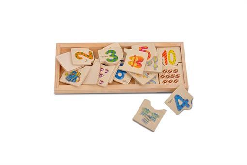 اسباب-بازی-پازل جاگذاری اعداد انگلیسی و تعداد