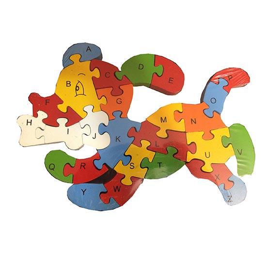 تصویر-شماره-1-پازل-چوبی-جاگذاری-به-همراه-آموزش-حروف-انگلیسی-طرح-سگ