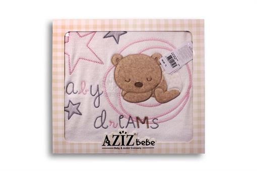 اسباب-بازی-پتو طرح خرس مارک AZIZ BEBE