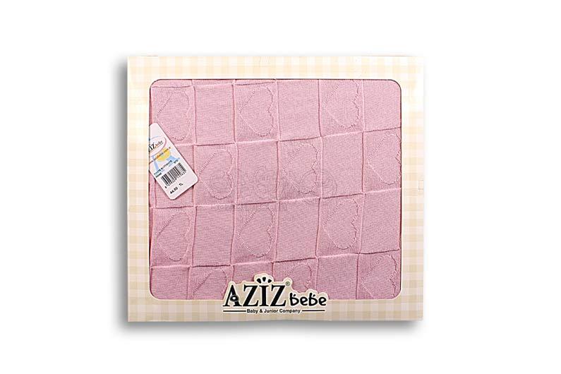 تصویر-شماره-1-پتو-صورتی-طرح-قلب-مارک-AZIZ-BEBE