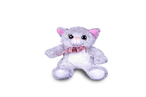 اسباب-بازی-عروسک پولیشی خارجی گربه چشم درشت سایز 2
