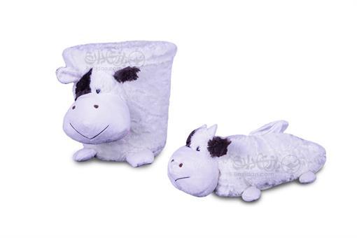 اسباب-بازی-سطل و جادستمالی عروسکی اتاق کودک طرح گاو