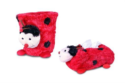 اسباب-بازی-سطل و جادستمالی عروسکی اتاق کودک طرح کفشدوزک