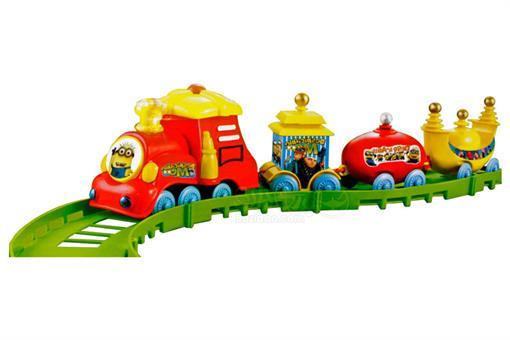 اسباب-بازی-قطار 16 تکه چراغ دار موزیکال طرح مینیون ال جی