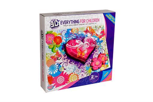 اسباب-بازی-پازل 250 تکه + 25 تکه 3 بعدی ساختنی طرح عشق