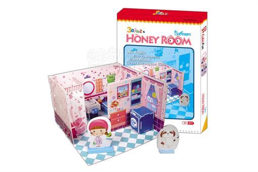 اسباب-بازی-پازل سه بعدی فومی حمام دخترانه 41 تکه