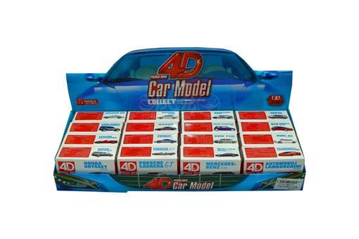اسباب-بازی-ست پازل پلاستیکی ماشین های کوچک طرح سوپراسپرت استند 16 عددی