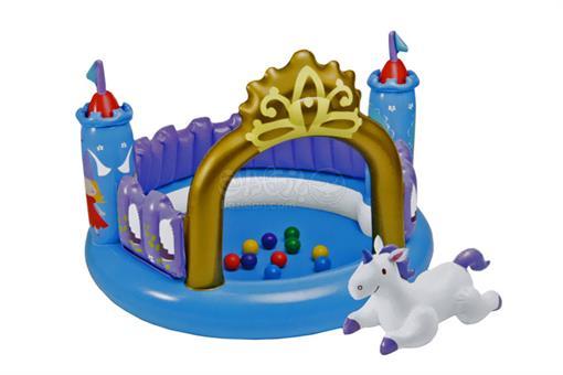 اسباب-بازی-قصر بادی تاج دار با توپ اینتکس