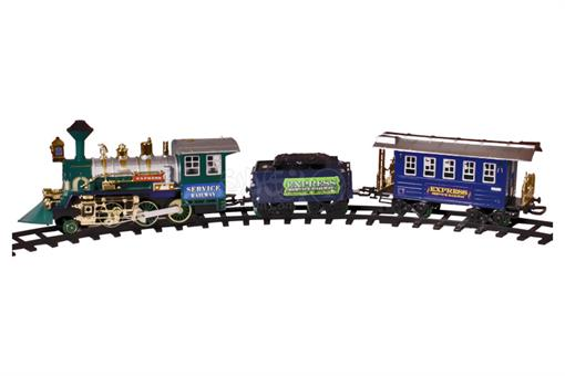 اسباب-بازی-قطار رادیوکنترلی 22 تکه چراغ دار صدادار باتری خور