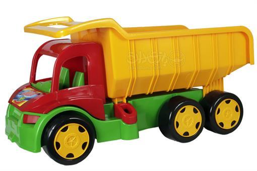 اسباب-بازی-ماشین پلاستیکی کمپرسی معدن 6 چرخ با ظرفیت 130 کیلو
