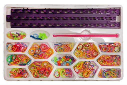 اسباب-بازی-فانی بافت ست دستبند رنگین کمان کندو