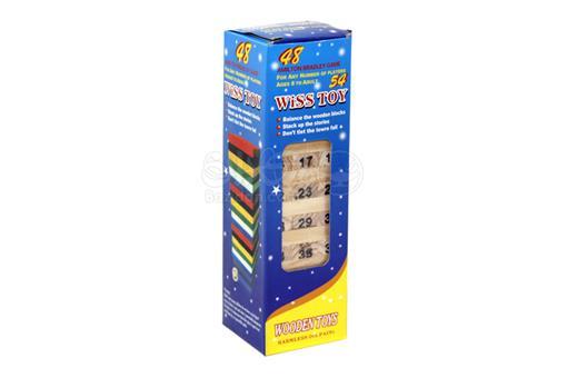 اسباب-بازی-برج هیجان جنگا شماره دار تاس دار کوچک