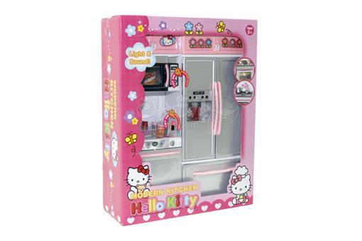 اسباب-بازی-ست آشپزخانه ماشن - ظرفشوئی - ماکروفر - یخچال طرح کیتی