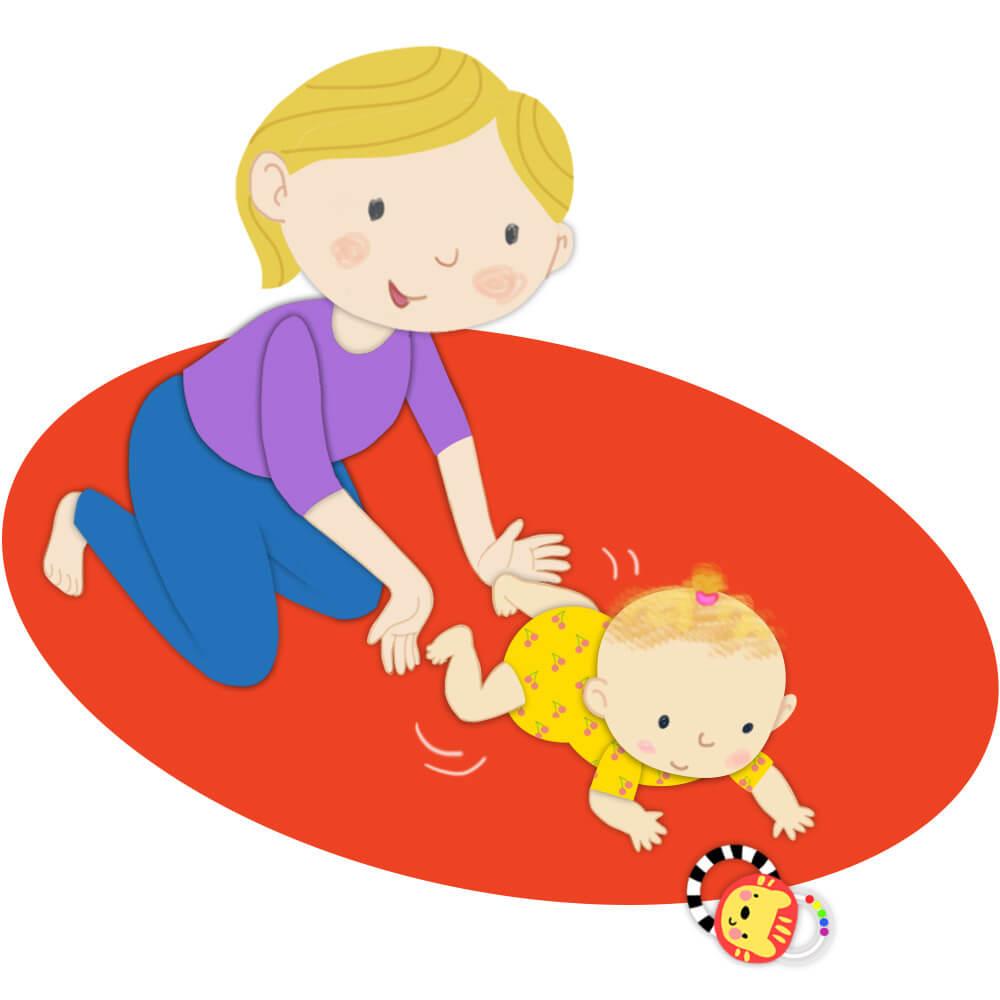 تمرین سینه خیز با اسباب بازی ها!