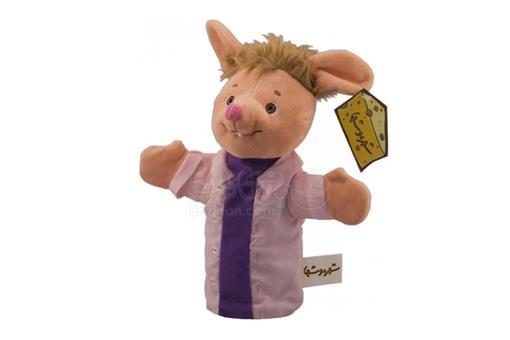 اسباب-بازی-عروسک نمایشی شیپور با بلوز بنفش شهر موشها