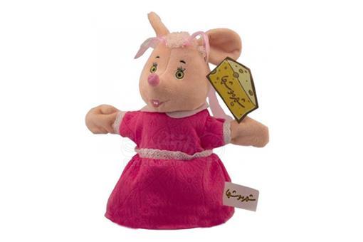 اسباب-بازی-عروسک نمایشی صورتی شهر موشها