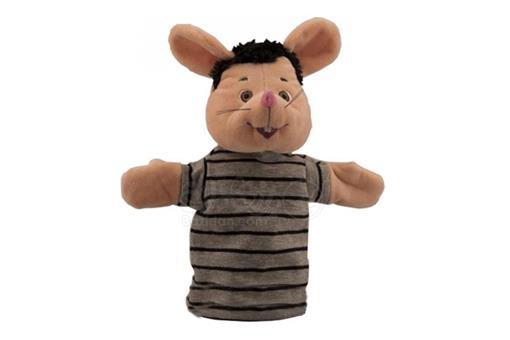 اسباب-بازی-عروسک نمایشی مشکی با بلوز راه راه شهر موشها