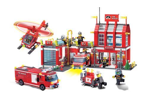 اسباب-بازی-لگو جایگاه آتش نشانی 170 تکه
