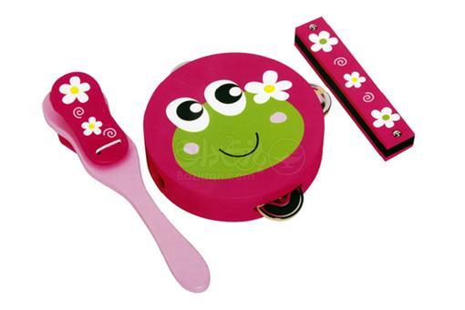 اسباب-بازی-ست موسیقی خاله قورباغه چوبی دخترانه