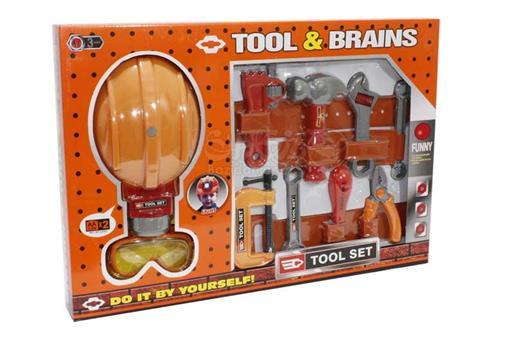 اسباب-بازی-ست ابزار با کلاه چراغدار