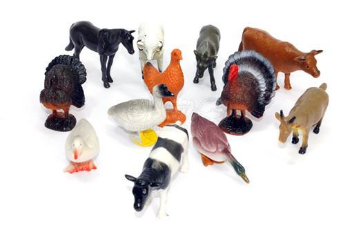 اسباب-بازی-ست حیوانات اهلی 12 تکه عددی
