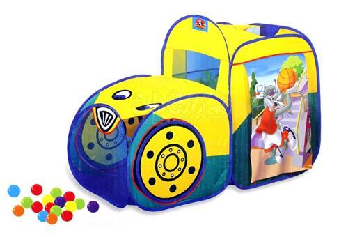 اسباب-بازی-چادر 2 عددی کودک با توپ بازی و سبد بسکتبال