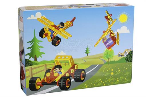 اسباب-بازی-ست 3 طرح 85 تکه مکانیک کوچولو 16مدلی