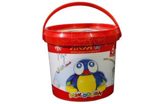اسباب-بازی-خمیر سطلی 6 رنگ
