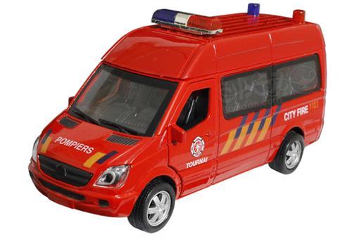 اسباب-بازی-ماشین ون آتش نشانی فلزی