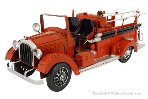 اسباب-بازی-ماشین فلزی دکوراتیو آتش نشانی