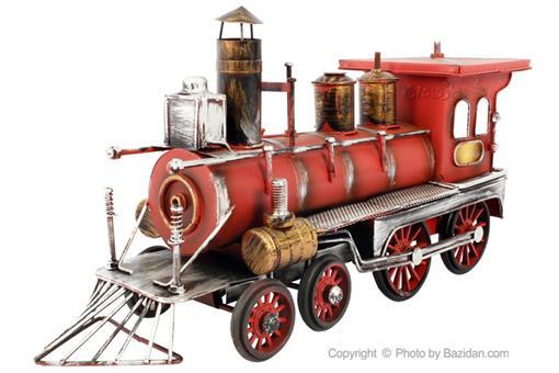 اسباب-بازی-قطار فلزی دکوراتیو قرمز
