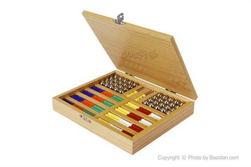 اسباب-بازی-ست مگنت ٨٨ قطعه رویال جعبه چوبی