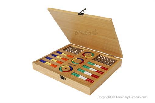 اسباب-بازی-ست مگنت چوبی رویال خمیده 120 قطعه