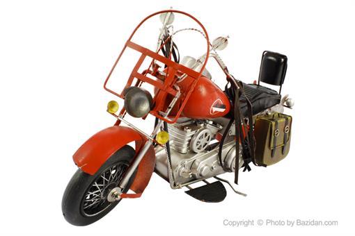 اسباب-بازی-موتور فلزی دکوراتیو قرمز