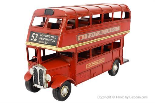 اسباب-بازی-اتوبوس فلزی دکوراتیو دو طبقه