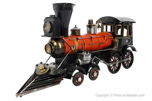 اسباب-بازی-قطار فلزی دکوراتیو مشکی قرمز