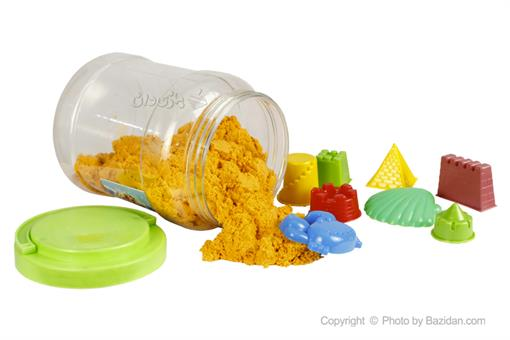 اسباب-بازی-ماسه جادویی قوطی یک کیلویی به همراه قالب