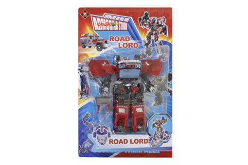 اسباب-بازی-ترانسفورمر تبدیل شونده به ماشین آتش نشانی ROAD LORD