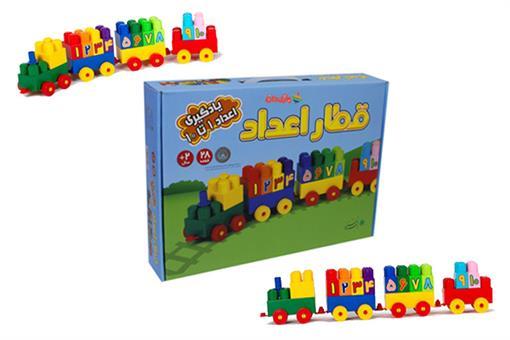 اسباب-بازی-آجر قطار اعداد