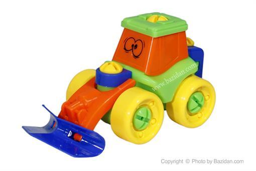 اسباب-بازی-بلدوزر ساخت و ساز پیچ و مهره ای