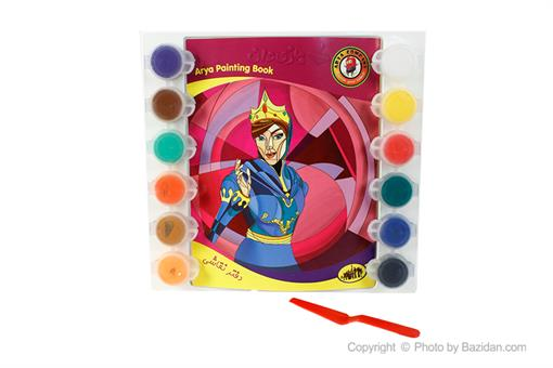 اسباب-بازی-گواش ١٢ رنگ و دفترچه نقاشی رستم و سهراب