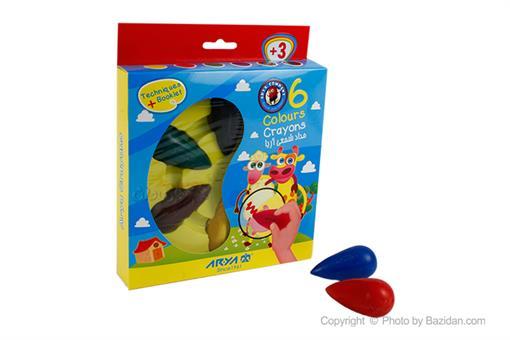 اسباب-بازی-مداد شمعی دوکی 6 رنگ