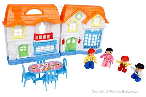 اسباب-بازی-خانه ویلایی و ٤ آدمک