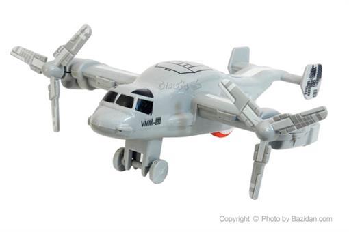 اسباب-بازی-هواپیما عقب کش ٢ ملخه نقره ای