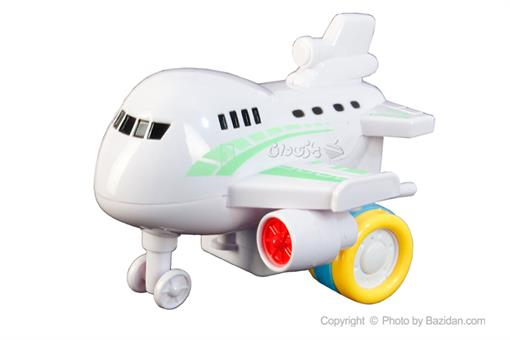 اسباب-بازی-هواپیما مسافربری قدرتی سفید سبز