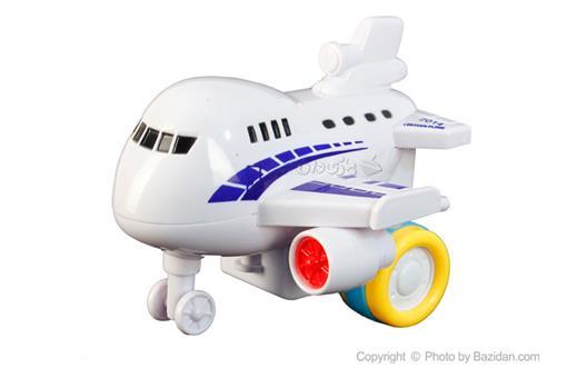 اسباب-بازی-هواپیما مسافربری قدرتی سفید آبی