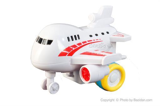 اسباب-بازی-هواپیما مسافربری قدرتی سفید قرمز