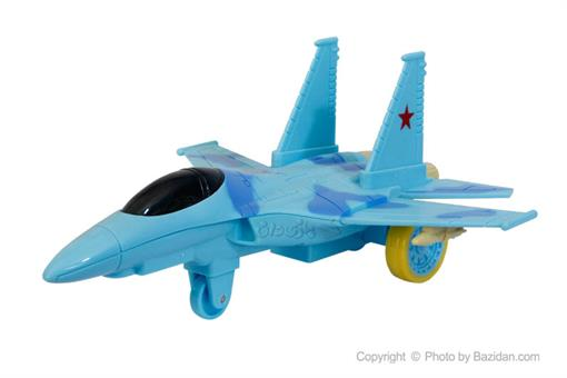 اسباب-بازی-هواپیمای قدرتی جنگی صدادار چراغدار آبی