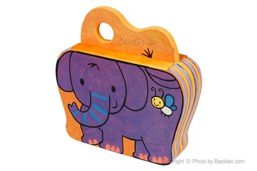 اسباب-بازی-کتاب فومی یه بچه فیل بازیگوش